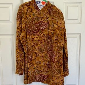 Gorgeous Fall Colors Silk Mandarin Collar Tunic